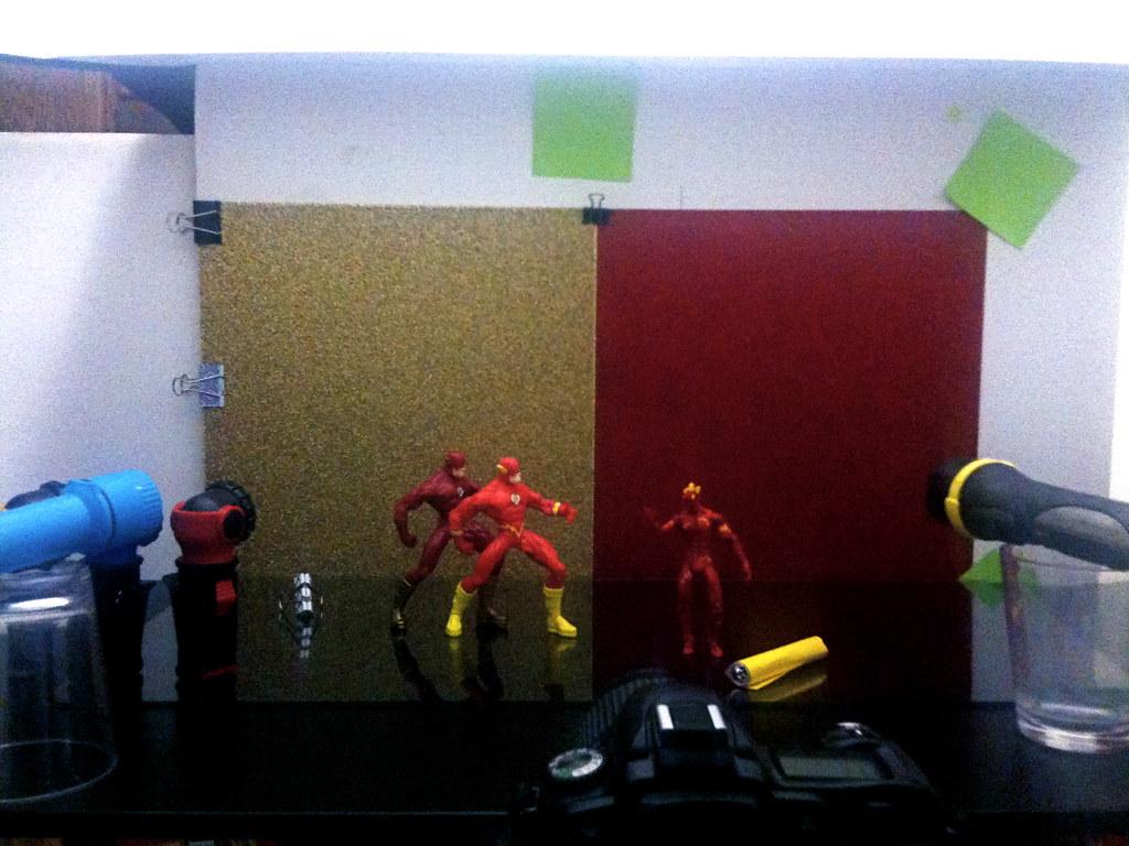 Flash vs. Human Torch Setup