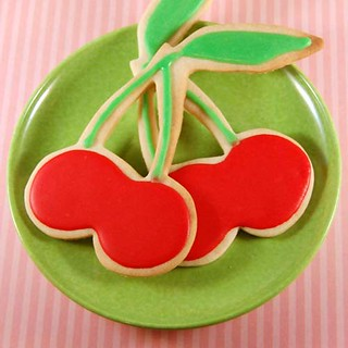 Cherry Cutout Cookies