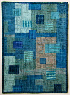 Boro Blues - Stitched Patched and Quilted Wall Hanging