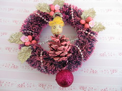 Pink Pinecone Doll Ornament! 2