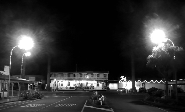 The Hotel - Raglan at night