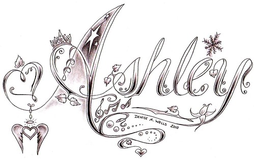 Ashley tattoo design by Denise A. Wells