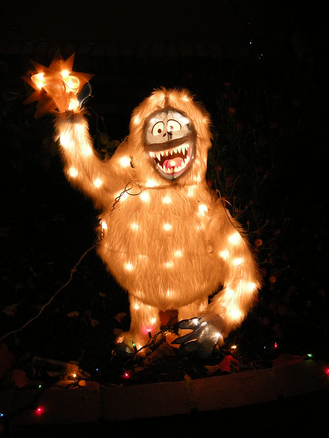 Christmas decoration lights the abominable snowman for Abominable snowman christmas light decoration
