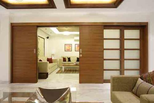 Living Room Design Ideas Sliding Doors by Mahesh Punjabi Associates: Interior Designer, Architect