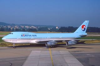 Korean Airlines Boeing 747-200; HL7458@ZRH, August 1987/ DXK