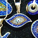 Evil Eye jewelry, Grand Bazaar, Istanbul, Turkey... Taken with cheap Zykkor macro attachment