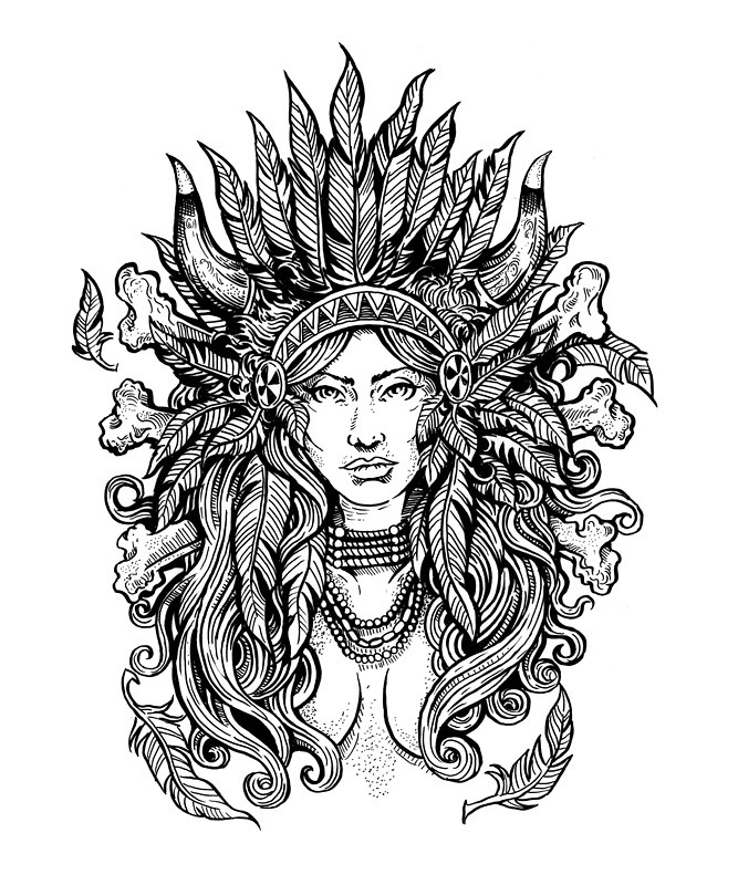 Free coloring pages of adult native american Coloring books for adults india