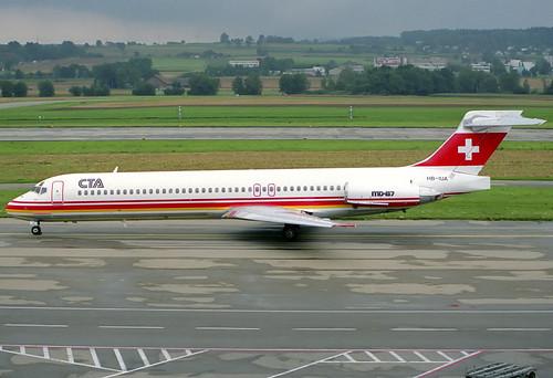 CTA MD-87 HB-IUA ZRH 08/08/1989
