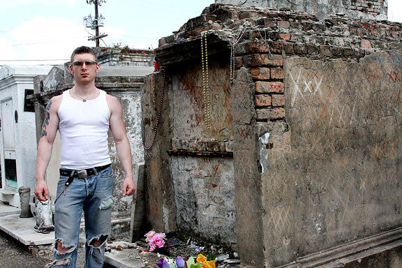 Me at the 'real' tomb of Marie Laveau