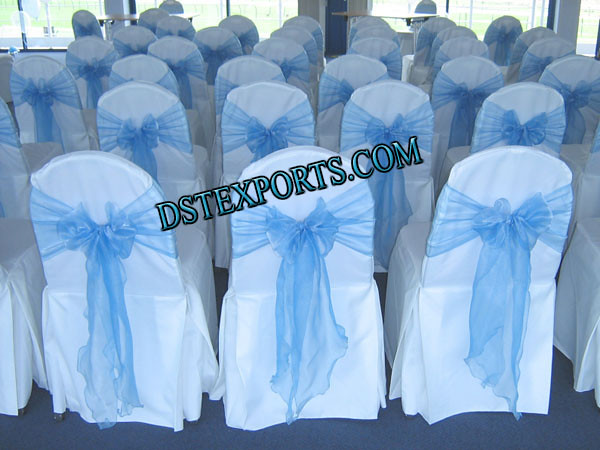 Wedding chair cover with skblue sashas we are original man