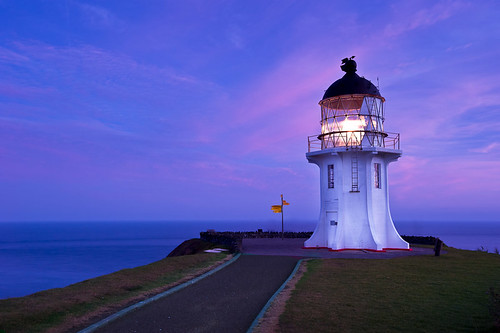 light newzealand lighthouse seascape building architecture sunrise dawn lighthouses towers structures architectural nz northisland northland beacon sunup daybreak capereinga oceania