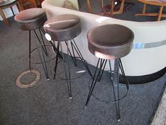 Set of 3 modern barstools   sold