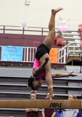 TWU Gymnastics Beam - Rashonda Cannie