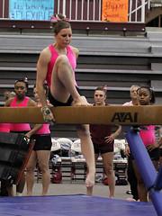 TWU Gymnastics Beam - Caroline Hilpisch