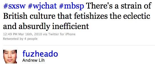 Twitter / Andrew Lih: #sxsw #wjchat #mbsp There' ...
