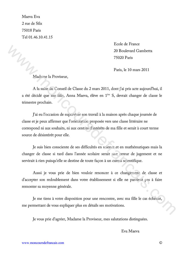 letter of application  lettre officielle mod u00e8le formule de
