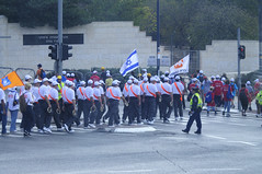 The Humanities of Jerusalem streets-The marchers