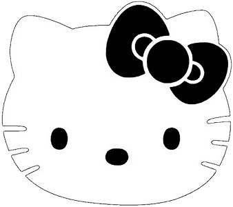 Hello kitty cupcake stencil flickr photo sharing for Hello kitty cut out template
