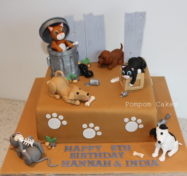 Alley cats and dogs cake Flickr - Photo Sharing!