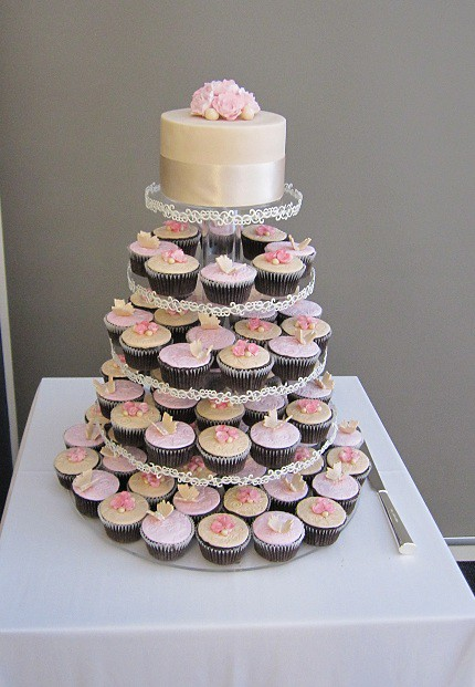 cupcake tower for wedding cakes wedding cupcake tower my cake for a wedding 13155