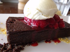 chocolate terrine and vanilla mascarpone