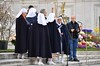 Nuns & Priests Praying The Rosary On The Steps Of St. Peter's Basilica On Easter Sunday