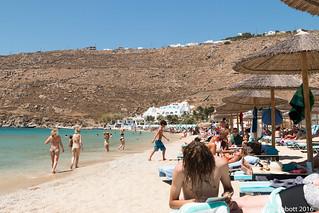 Obraz Psarou Beach (Ψαρρού) Psarou. canon70d greece mykonos psarrou egeo gr