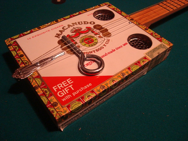 String cigar box guitar flickr photo sharing