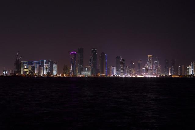 West Bay - Skyline at Night, Doha, Qatar
