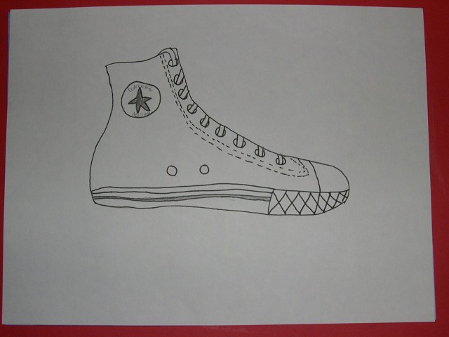 Contour Line Drawing Shoes : Contour line drawing shoe flickr photo sharing