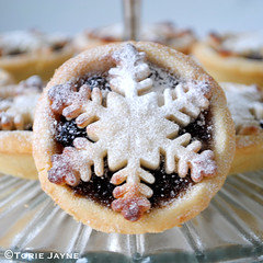 Marzipan topped mince pies