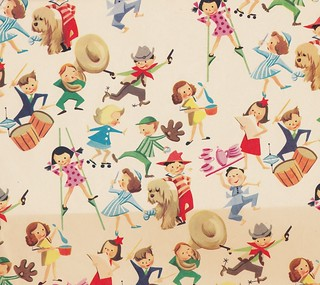 Vintage Children's Gift Wrap