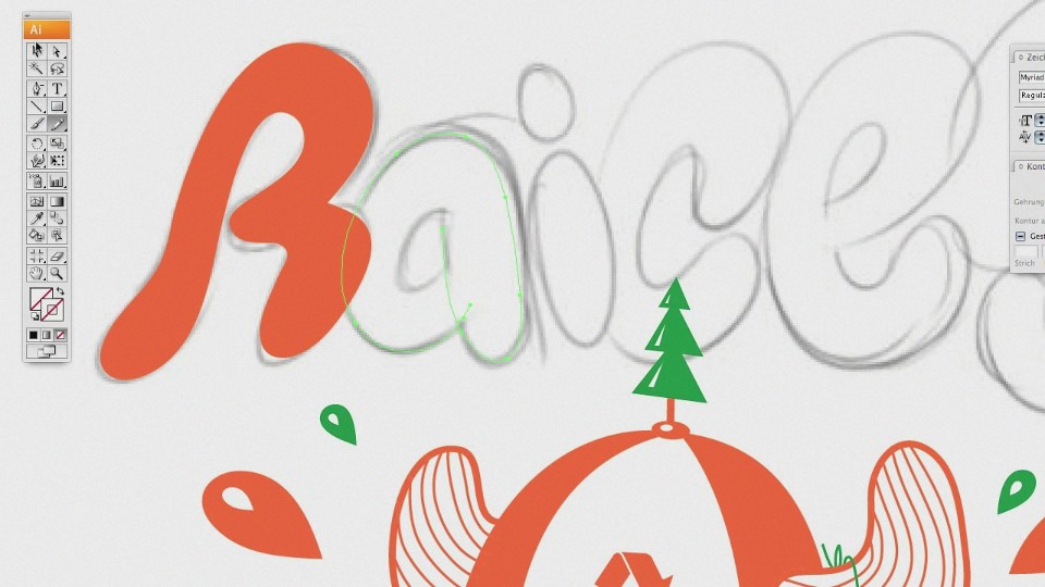 RAICES vector type fun DIY video