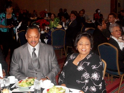 Shirley Sherrod was the keynote speaker at the Central United Methodist annual dinner in Detroit on Dec. 5, 2010. She is seated next to the Rev. Jesse Jackson at the gala affair held at the Renaissance Center downtown. (Photo: Abayomi Azikiwe) by Pan-African News Wire File Photos