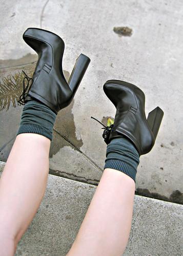 high heels mit socken