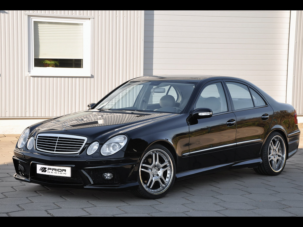 Mercedes benz e class w211 full body kit black e55 e63 for Mercedes benz amg kit