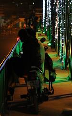 Night time at the iron bridge