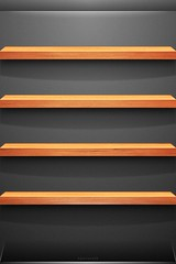 Cherry Wood Shelf iOS Wallpaper [iOS 4 Retina Display]