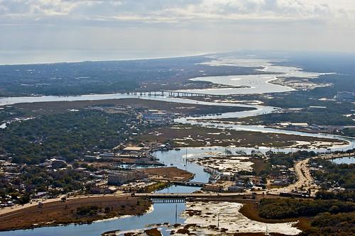 city flying florida aerial lookingdown intracoastalwaterway saintaugustine project365 365365 sansebastianriver