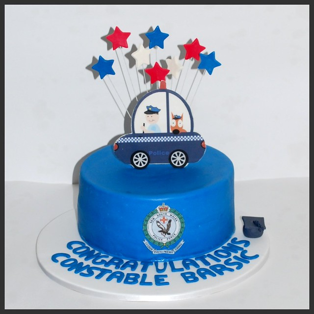 Cake Decorations For Police Cake : police car cake Chocolate cake decorated with edible ...