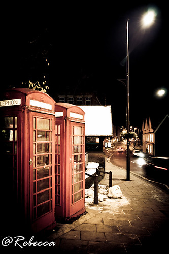 Telephone booth couple