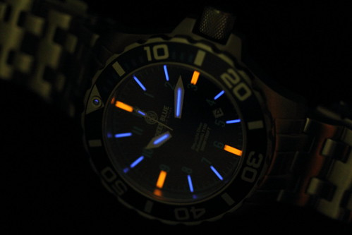 Deep Blue Dive Watch Automatic T100 Tritium Tubes
