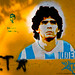 Diego Maradona by meandfrenchie