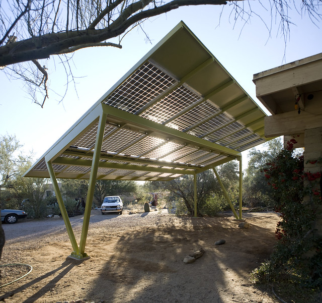 solar array carport new solar carport at my parents house flickr photo sharing. Black Bedroom Furniture Sets. Home Design Ideas