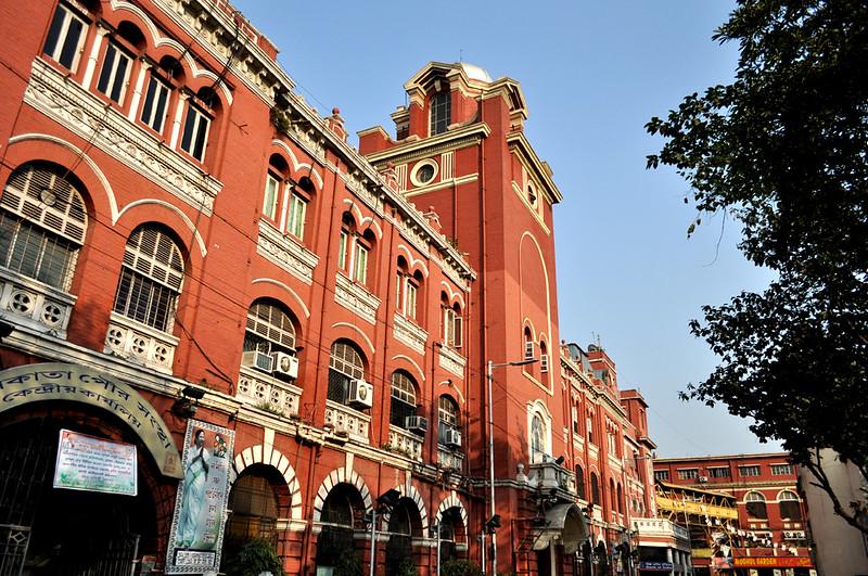 calcutta corporation building, esplanade, kolkata, west bengal, india