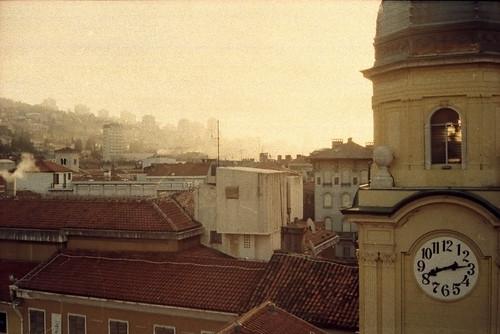 city morning fog sunrise canon croatia sat canonet ql17 hrvatska rijeka jutro dmparadies400