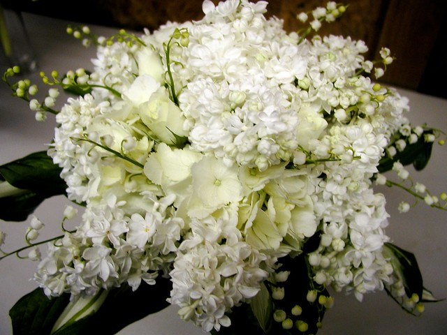 Lilacs, Hydrangea And Lily Of The Valley