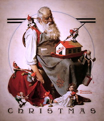 Christmas: Santa with Elves