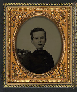 [Private Charles H. Bickford of B Company, 2nd Massachusetts Infantry Regiment as a young boy] (LOC)