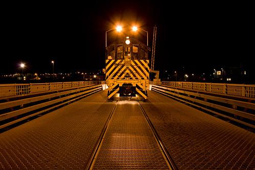 San Francisco Belt Railroad Engine #23 on the Islais Creek Bridge